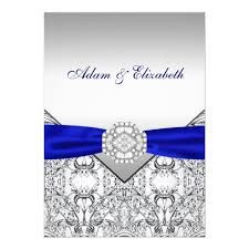 royal blue wedding invitations silver and royal blue wedding invitations zazzle