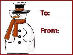 free christmas gift tags print snowman 2