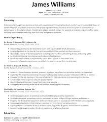 Sample Resume Objectives For Training by Dental Assistant Resume Sample Resumelift Com