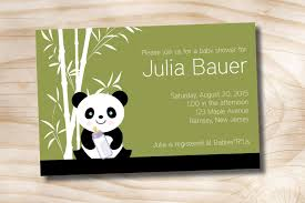 Library Card Invitation Baby Shower Panda Baby Shower Invitations Theruntime Com