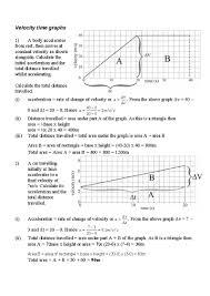 motion graphs physics gcse
