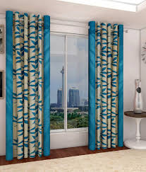 home candy set of 2 door eyelet curtains floral blue buy home