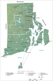 Rhode Island Mountains images Rhode island state map travel information jpg