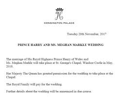 prince harry meghan markle will in in may daily