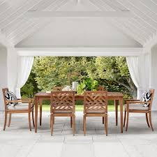 Teak Table And Chairs For Sale by Outdoor Dining Furniture Williams Sonoma