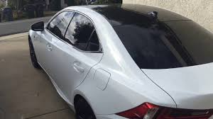 2015 lexus isf white 3m gloss black roof wrap 2014 lexus is 350 f sport youtube