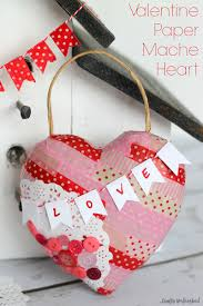 valentine u0027s day craft paper mache heart crafts unleashed