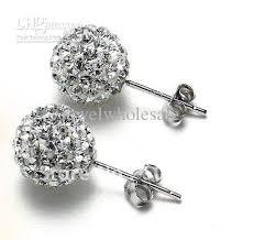 disco earrings 2017 sparkling 10mm clear disco stud earrings