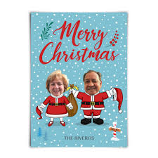 santa family custom printed holiday cards starring your face