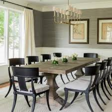 lighting elegant dining room design with linear chandelier and