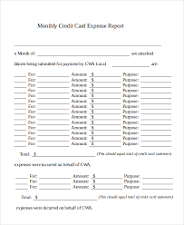 Monthly Expense Report Template Excel Sle Expense Reports Visitors Expense Report Form Sle