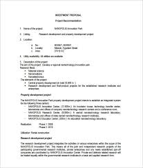 investment proposal templates u2013 11 free sample example format