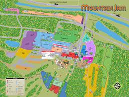 Festival Map Venue Map Mountain Jam