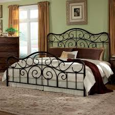 Black Wrought Iron Headboards by Wrought Iron Queen Headboard Rickevans Inspirations Also Metal