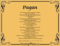pagan meaning of name