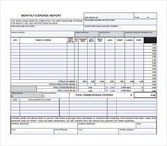 Monthly Expense Report Template Excel Monthly Expense Report Template Excel Thebridgesummit Co