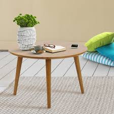 Overstock Round Coffee Table - american trails mesa mid century modern round coffee table with