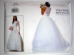 wedding dress sewing patterns vintage vera wang bridal dress pattern 1945 vogue original size 8