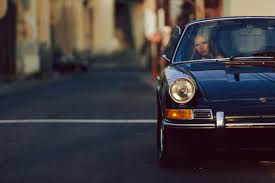 beautiful woman vintage porsche good style airows