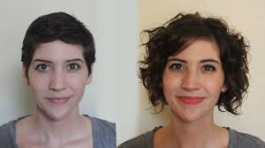 nine months later its a bob from pixie cut to bob haircut pixie to curly bob one year timelapse youtube