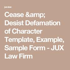 cease u0026 desist defamation of character template example sample