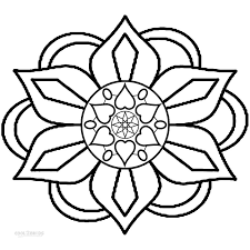 printable rangoli coloring pages kids cool2bkids