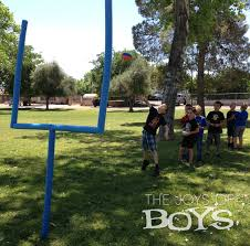 Backyard Football Goal Post Ultimate Sports Birthday Party Pool Noodles Noodle And Birthdays