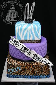 Cake Walk Leopard U0026 Zebra Print Birthday Cake