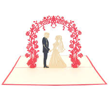 card for on wedding day wedding day pop up card custom wedding invitation kirigami card