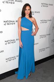 dress gal gal gadot s blue dress at the national board of review awards