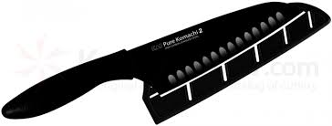 Kai Kitchen Knives by Kai Ab5085 Pure Komachi 2 Series Santoku Knife Black 6 1 2