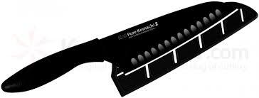kai ab5085 pure komachi 2 series santoku knife black 6 1 2