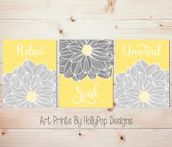 prepossessing 60 yellow and gray bathroom wall decor design
