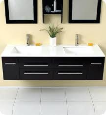 modern bathroom vanity sink fresca cristallino modern glass