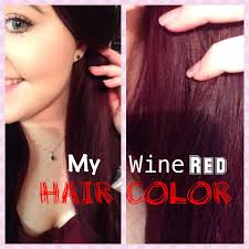 my wine red hair color youtube