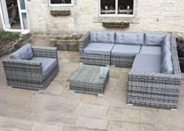 Outdoor Rattan Corner Sofa Luxury Grey Rattan Corner Sofa Set Conservatory Or Outdoor Garden