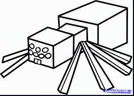 minecraft spider coloring pages coloring pages ideas