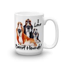 15oz mug i love basset hounds mugs