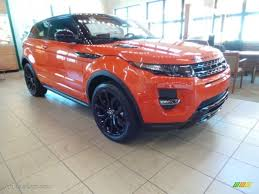 orange range rover 2015 phoenix orange land rover range rover evoque dynamic