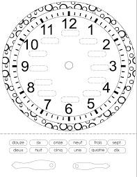 french printouts for children time french worksheets for