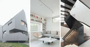 minimalist interior an angular exterior surrounds the minimalist interior of this house