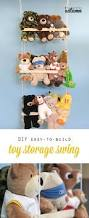 stuffed animal swing diy hanging toy storage toy storage