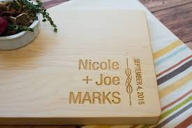 cutting board personalized ornate scroll personalized wooden cutting board unique wedding
