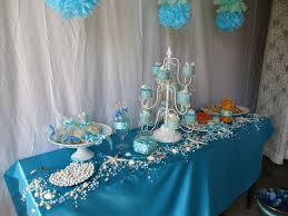 Table Decoration Ideas For Birthday Party by Under The Sea Table Decorations Sea Urchins Hanging From The