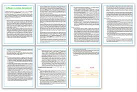 licensing agreement template free software license agreement template