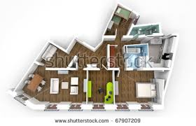 Floor Plan Of An Apartment 3d House Plans Stock Images Royalty Free Images U0026 Vectors