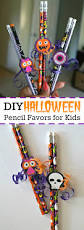 diy halloween pencil favors easy no candy halloween treats for