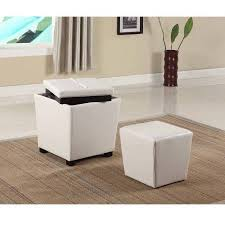 roundhill 2 in 1 storage ottoman with stool multiple colors