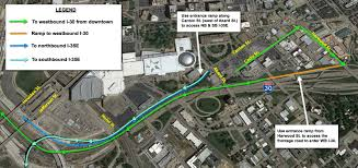 Downtown Dallas Map by Access Changes To Westbound I 30 In The Canyon From Downtown