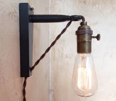 lighting plug in wall sconce for bedroom with wood paneling for